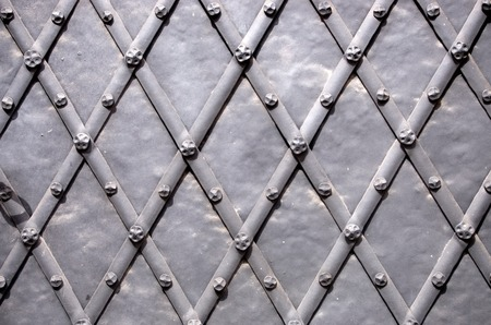 rusty iron texture background with diamond pattern Stock Photo