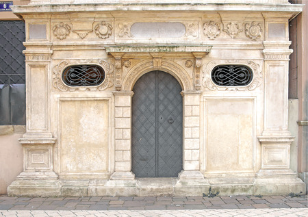 renaissance church sacristy door made of iron