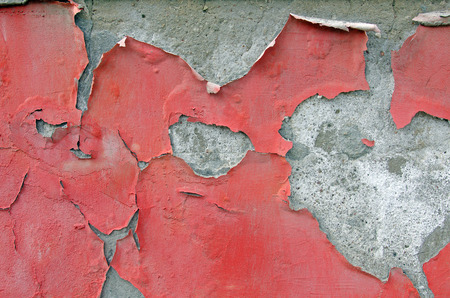 background texture of a dirty grunge wall with red paint peeling off Stock Photo - 30793643