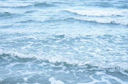 blue sea waves on a sunny day