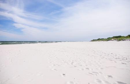 white sand beach with wild dunes, Hel, Poland Stock Photo - 31761918