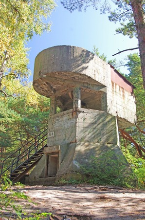 war relic in the forest of Hel peninsula, Poland Stock Photo