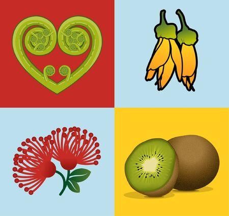 New Zealand Kiwiana imagery