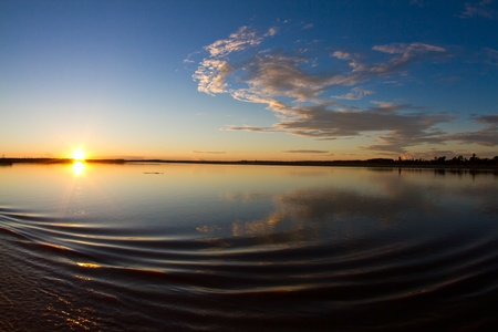 A magical morning on the Amazon river.
