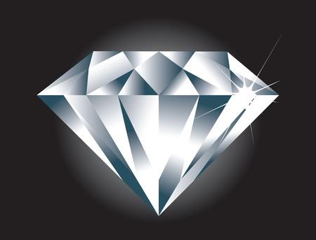 diamante negro: Un f�cil simple para editar Diamante. Diamond chispa y BG en capas separadas.