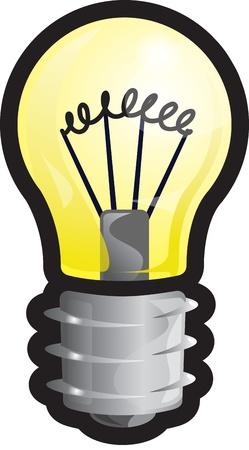 Cartoon vector illustration of a light bulb!