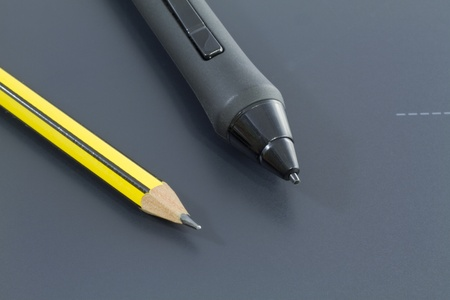 cousin: A Digital pencil sits side by side with its traditional cousin