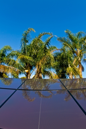 Newly installed solar panels churn out the electricity in the heat of the tropics. Stock Photo - 16412999