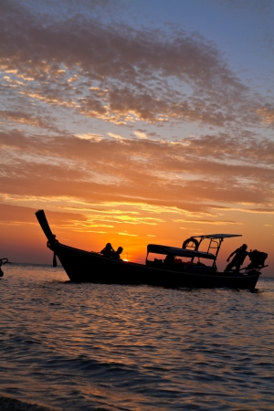 end of a long day: A long day on the sea in Thailand comes to an end.