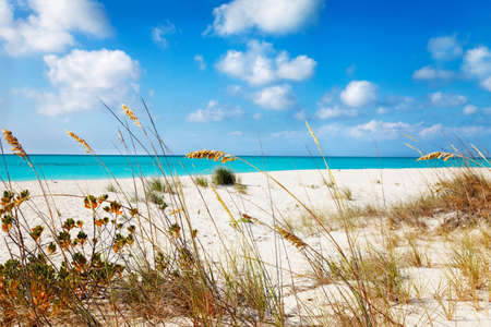 cay: Entering Half Moon Bay from the dunes, Big Water Cay, Turks & Caicos