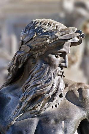 neptuno: Estatua de bronce de Neptuno, fuente de Brewer (1868), Boston Common