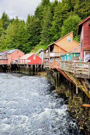 pine creek: Creek Street, Ketchikan Alaska - former red light district, current shopping area