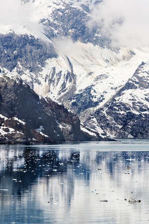 inlet bay: Topeka Glacier entering Johns Hopkins Inlet, Glacier Bay National Park, Alaska