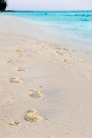 Footprints in the early morning light photo