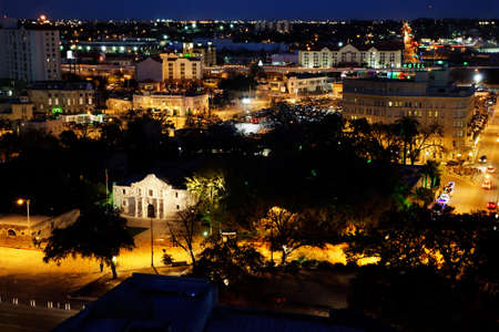 Alamo Plaza, San Antonio at night photo