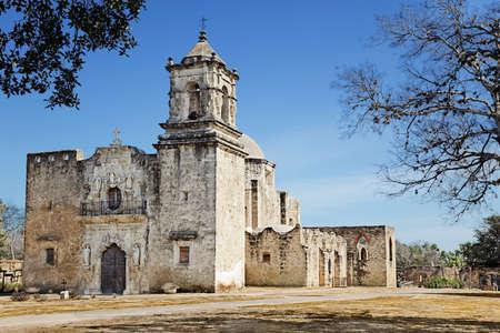 antonio: Church in Mission San Jose, San Antonio, Texas Stock Photo