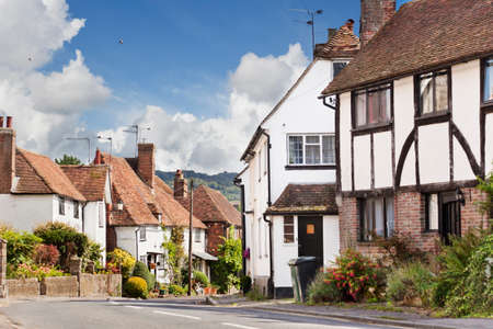 Pretty village of Hollingbourne, Kent on a sunny late summer day Stock Photo