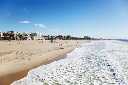 Santa Monica beach looking south towards Venice Beach photo