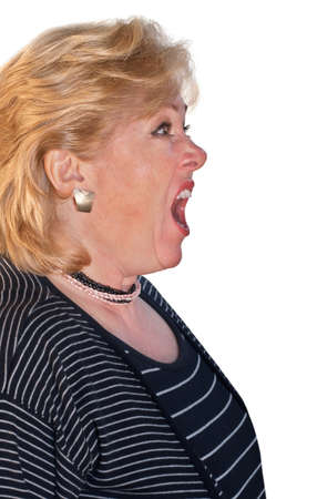 Screaming woman, left photo