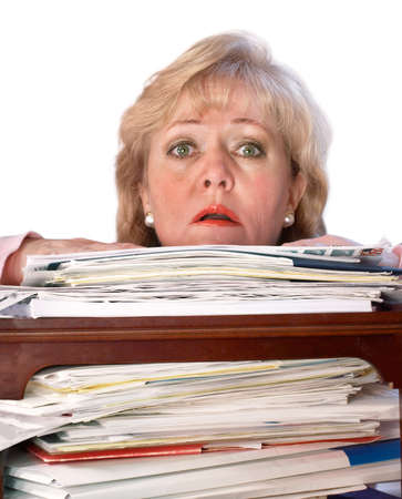 Buried by the paperwork photo