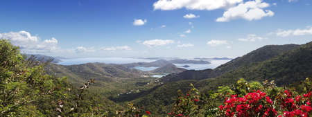 st  john: Hilltop view of the Virgin Islands from St John