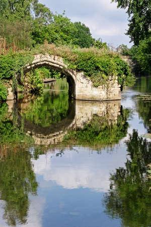 overrun: Overgrown disused waterway