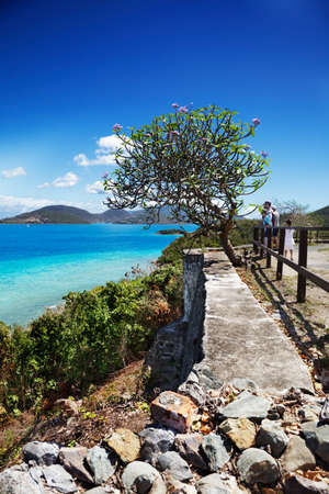 leinster: Looking out at the islands beyond Leinster Bay, St. John