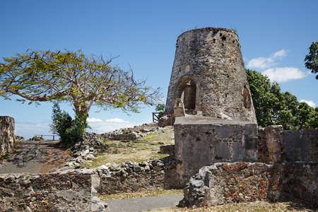 Ruined windmill at the Annaberg Plantation, St. John photo