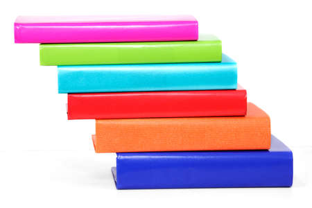 Staggered stack of colorful hardback books Stock Photo - 9821772