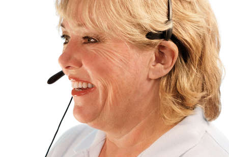 Mature female customer service rep photo