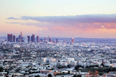 Downtown Los Angeles right before sunset