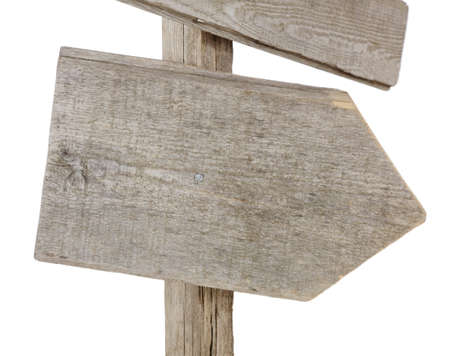 Rough hewn wood sign pointing right Stock Photo - 9847404