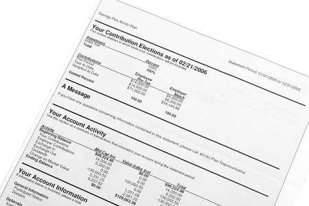 compounding: Retirement 401(K) plan statement details