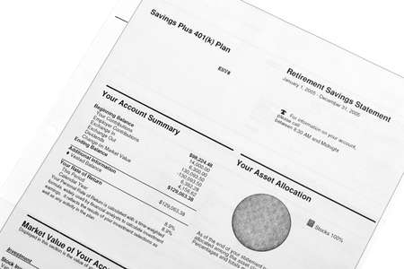 compounding: Retirement savings and investments - account statements summary