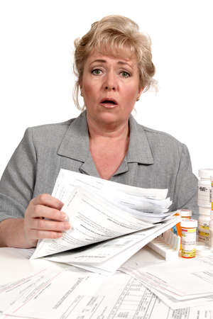 cant: I cant believe how big this pile of paperwork is! Stock Photo