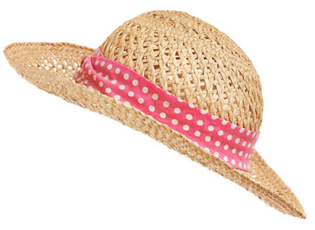 diagonal: Isolated straw hat, diagonal