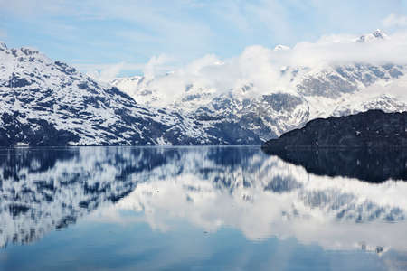 alaska scenic: Approaching Johns Hopkins Inlet from Tarr Inlet, Glacier Bay National Park, Alaska