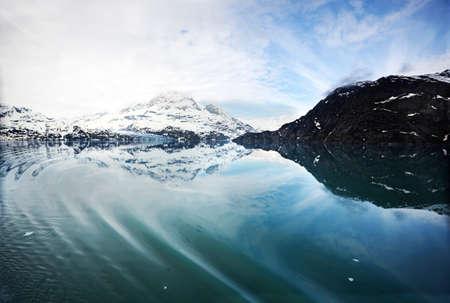 inlet bay: Tarr Inlet approaching Lamplugh Glacier, Glacier Bay National Park, Alaska