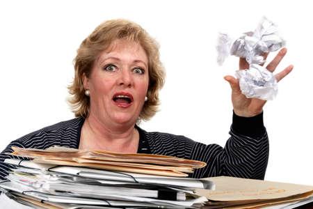 toss: Toss crumpled paper Stock Photo
