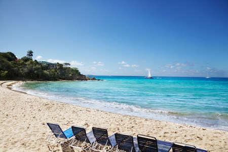 Caribbean beach on a sunny morning photo