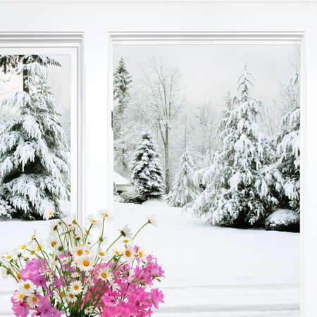Winter view with thoughts of spring blooming photo