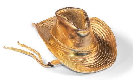 stetson: Gold lame stetson Stock Photo