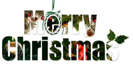 greeting christmas: Greetings of the season from the decorations of Christmas