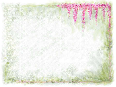 Watercolor flowerleaf background Stock Photo