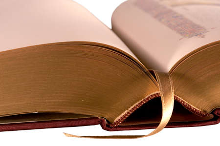 silken: Gilded pages and silken ribbon