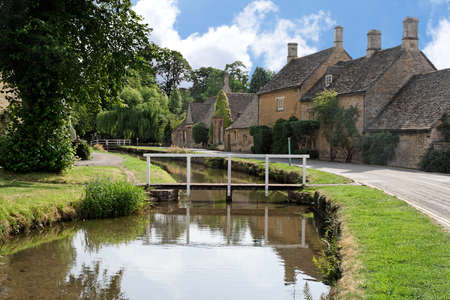 Quiet morning street, Lower Slaughter, England photo