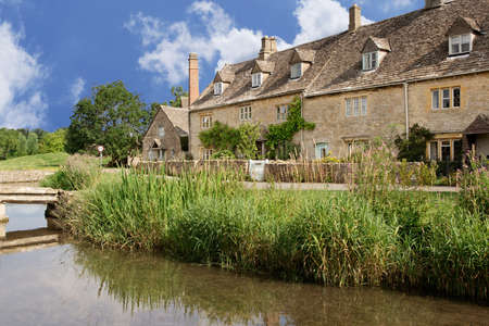 Summer morning, Lower Slaughter, England photo