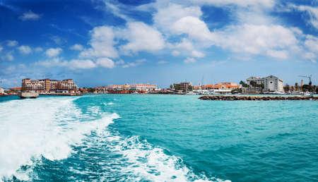 Oranjestad harbor, Aruba photo