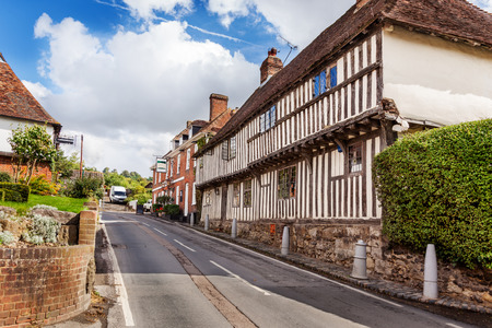 Historic buildings on Upper Street, Hollingbourne, Kent