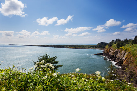 disappointment: View looking north from Cape Disappointment to Long Beach Stock Photo